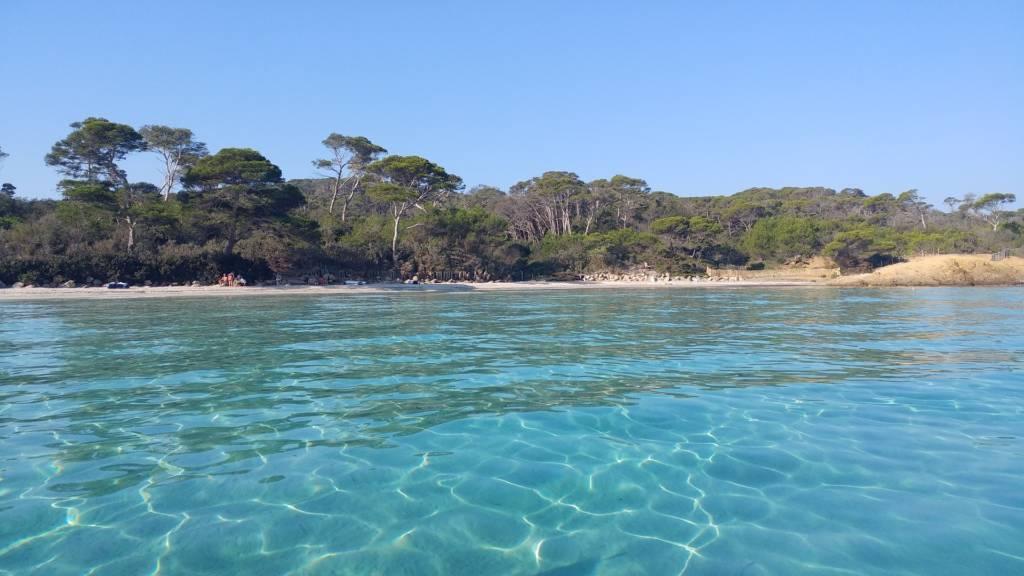Île de Porquerolles située sur la côte d'Azur