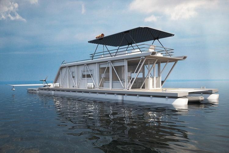 Un bateau-maison écolo